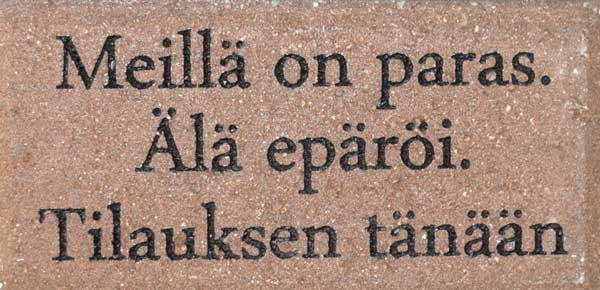 Engraved Brick Finnish