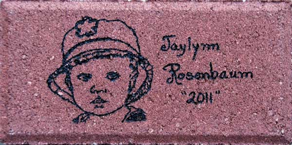 Engraved Brick Original Art