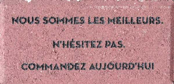 Engraved Brick French