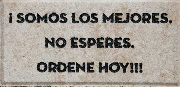 Engraved Brick Spanish