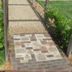Engraved Bricks path