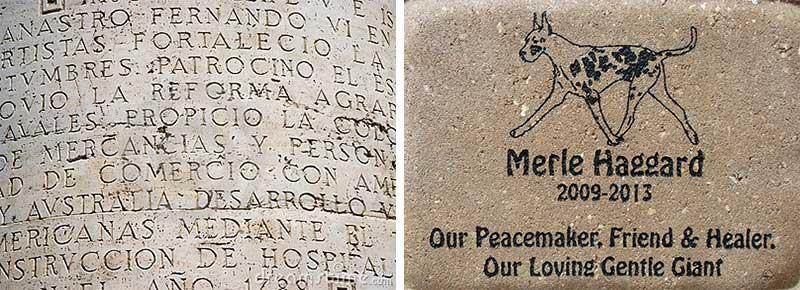 brick engraving history