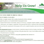 Brick Fundraiser Brochure Garden