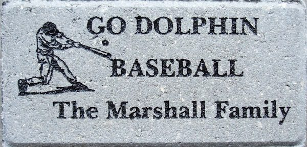 Brick Engraving Baseball