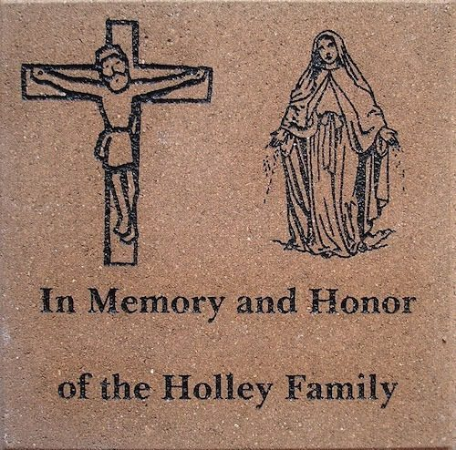 Church engraved memorial Brick