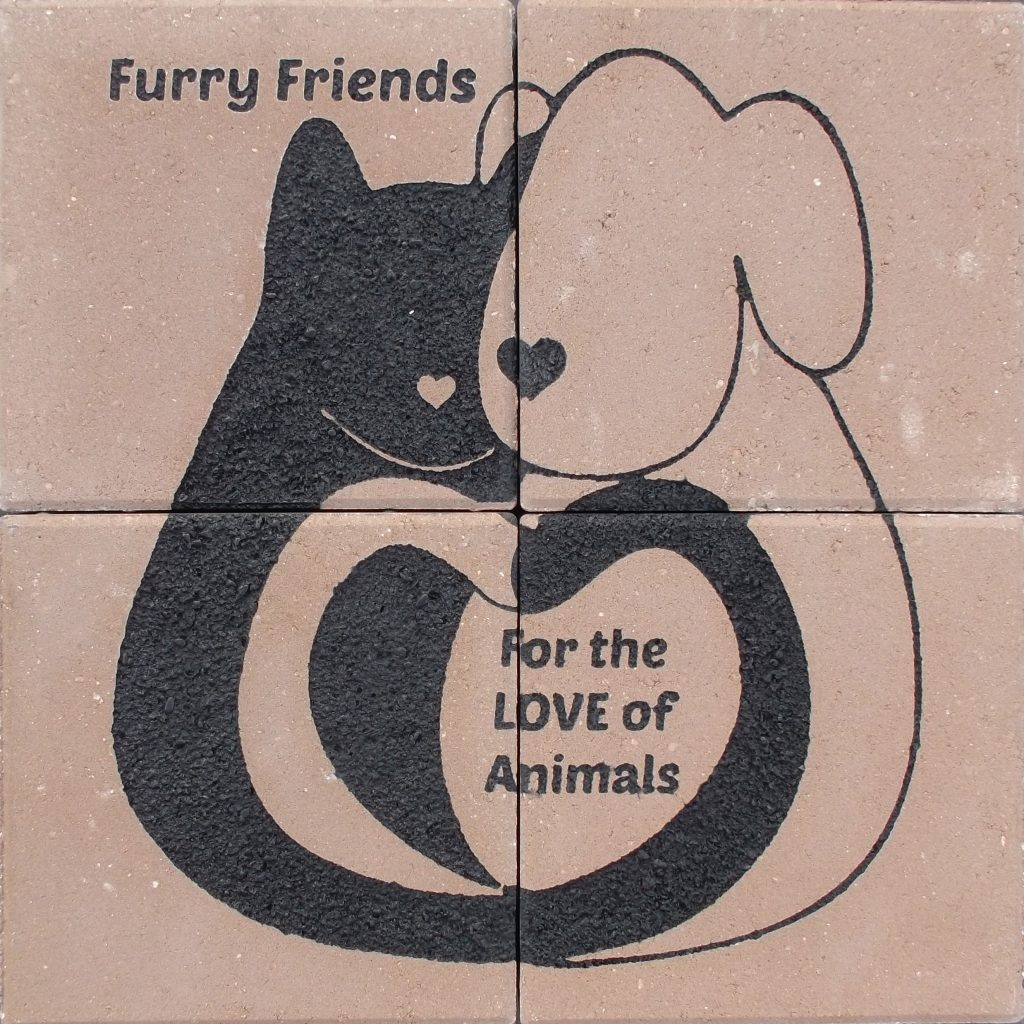 Engraved Brick Array Animal Shelter