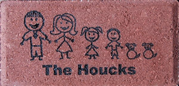 Engraved Brick Family Art