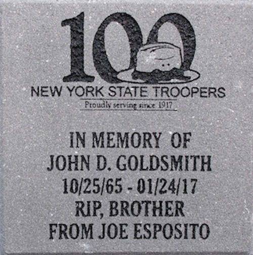 Memorial Brick State Trooper NY