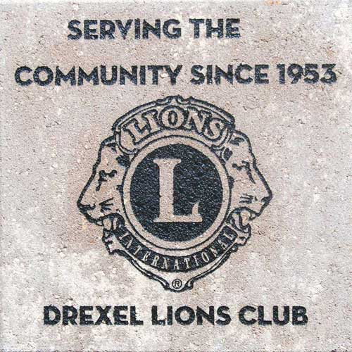 Engraved Brick Lions Club