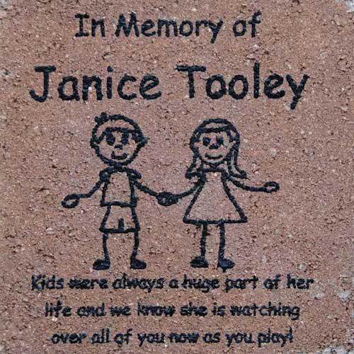 Engraved Memorial Brick with Original Art