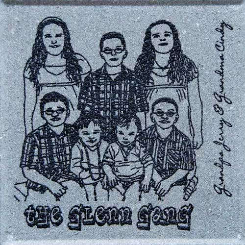 Engraved Brick original Art Family