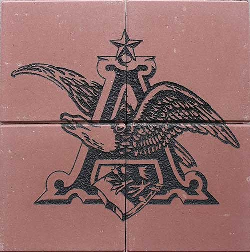 Anheuser-Busch- engraved bricks Array
