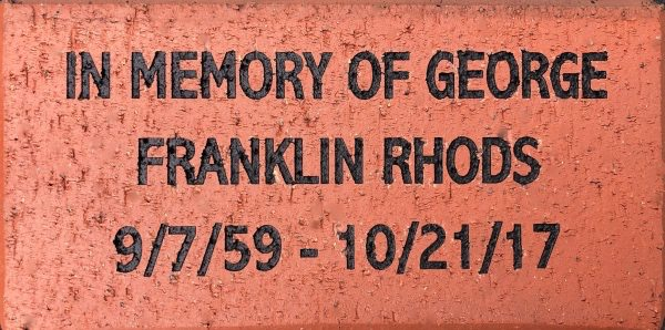 Engraved Memorial Brick clay