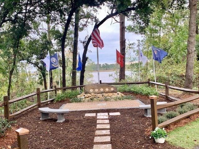 Veterans Brick Memorial dedication Brunswick Riverwalk