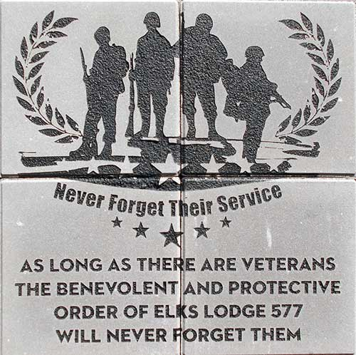 Veterans custom-engraved-brick-display