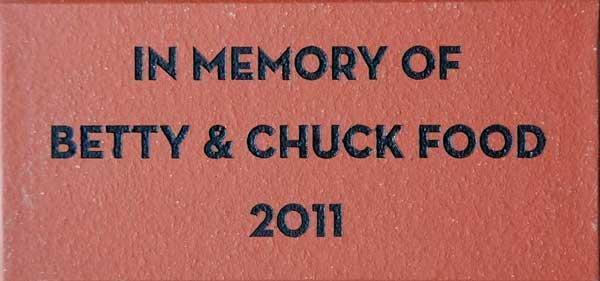 Engraved Memorial Tile