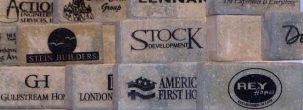 Engraved Signature Bricks