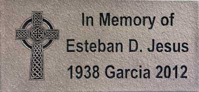 custom engraved quarry tile