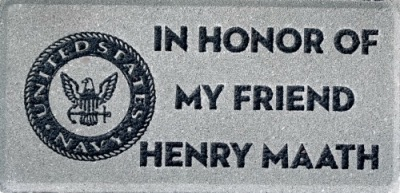 Commemorative Brick Unites States Navy