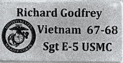 Memory Brick Veteran Marine Corps
