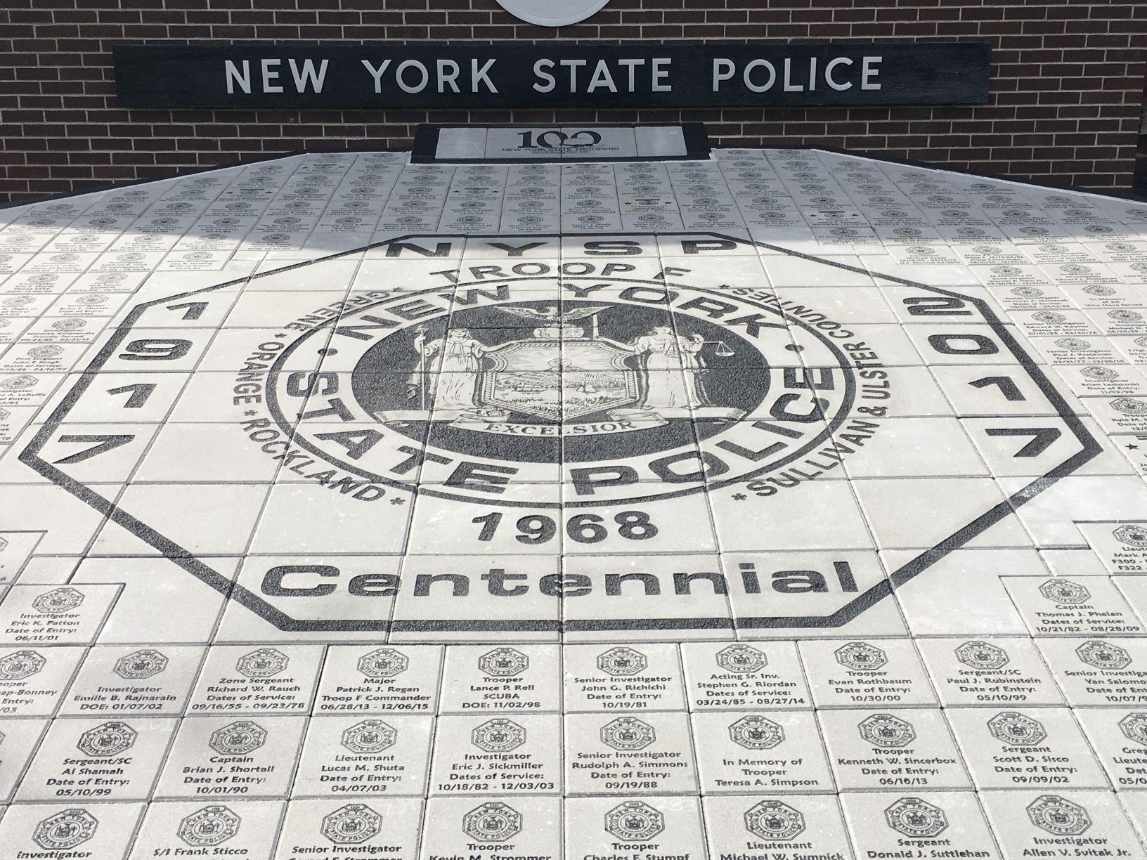 Engraved Bricks For Memorial NY State Police