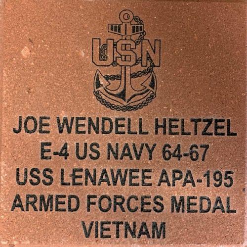 Navy Memorial Brick