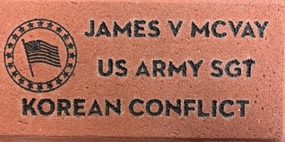 Veteran Memorial Brick Korean conflict