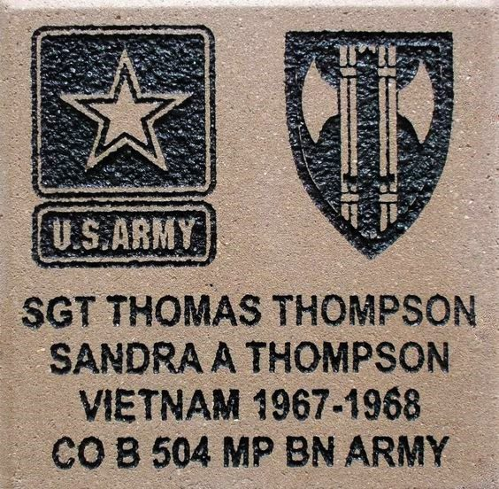 US Army Memorial Brick
