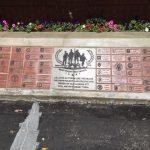 Veterans memorial Brick wall