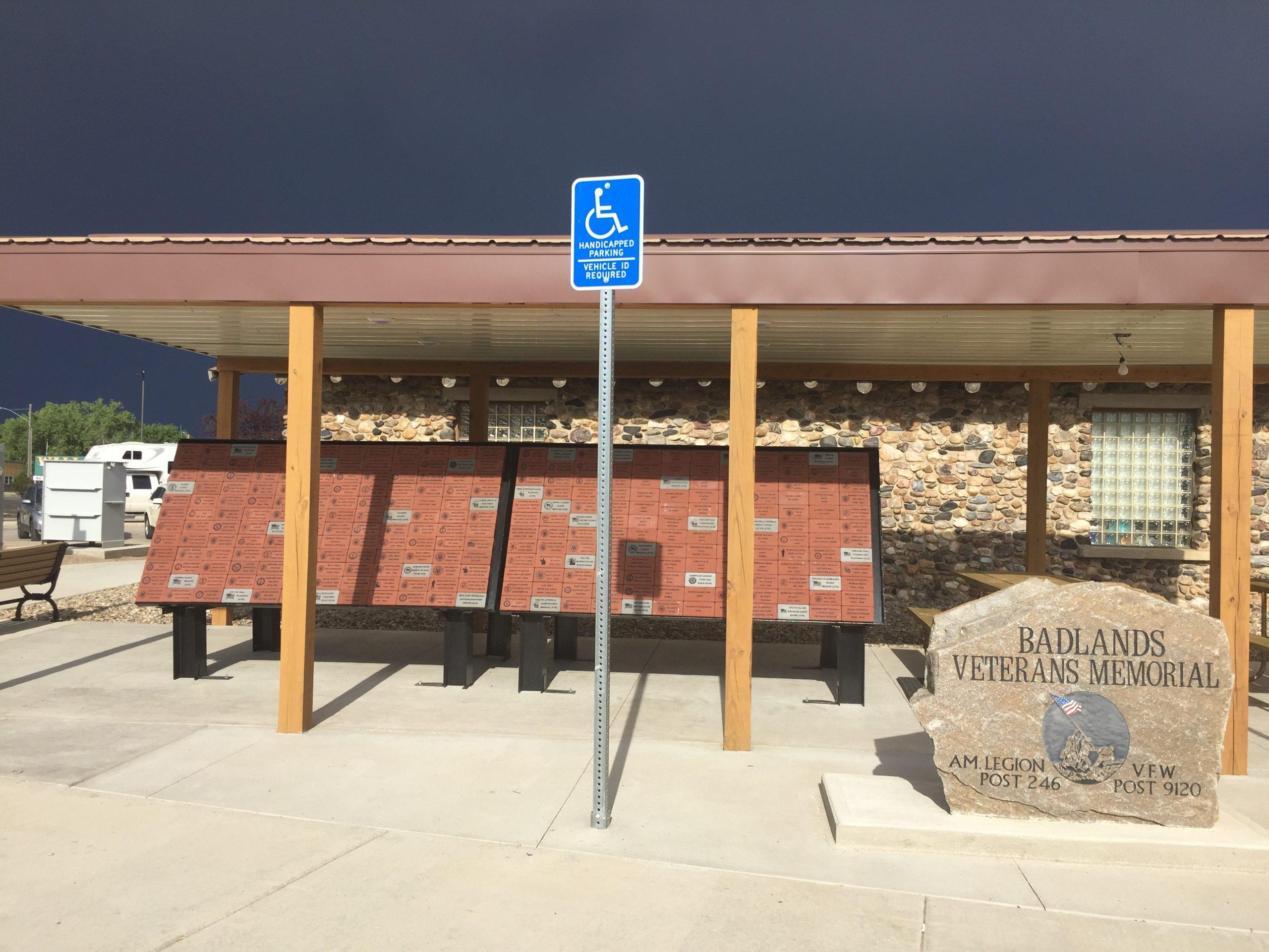 Veterans Memorial wall Badlands