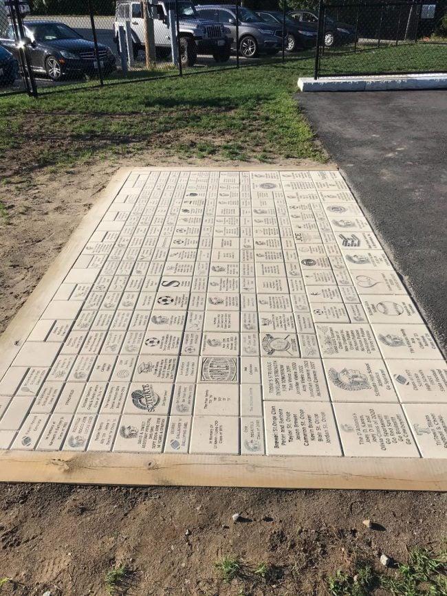 Engraved Bricks Patio