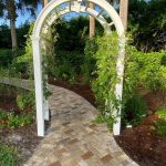 Memorial Bricks Walkway in garden