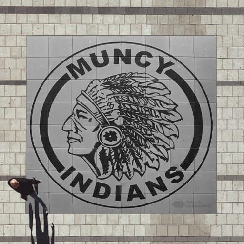 Engraved Brick array Muncy Indians
