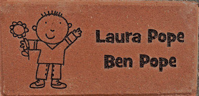 Engraved Brick design
