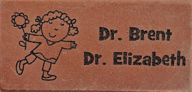 Engraved brick with special art