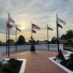 Brick memorial for Veterans