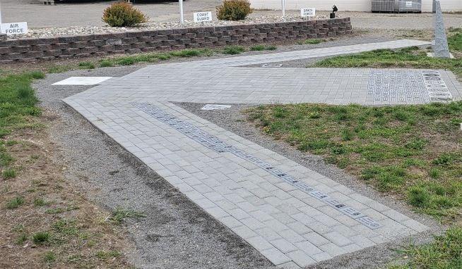 Memorial Bricks Pathway For Veterans