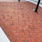 Engraved Memorial Brick driveway
