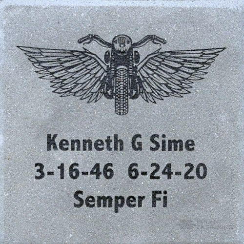 Engraved memorial brick Semper Fi