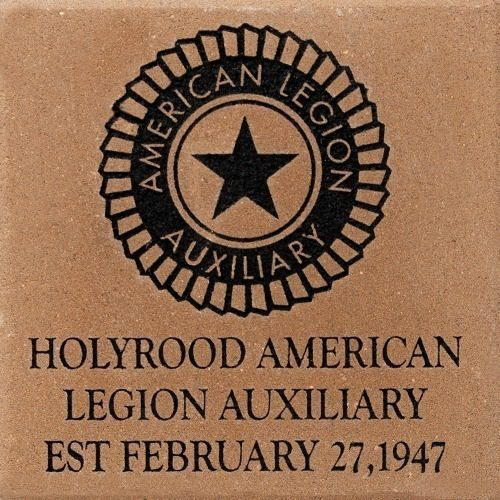 Engraved memorial brick for american legion